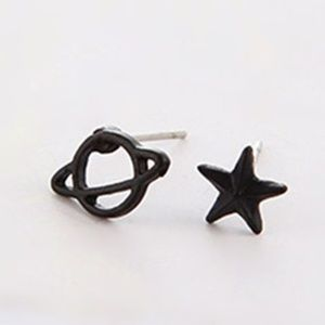 5/$24 Saturn Planet and Star Post Earrings